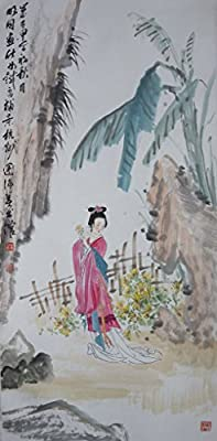 [Chinese Ink and Wash Painting] - Jude picks up the chrysanthemums - 100% creative by Master Song - 41.34 x 19.69 inches