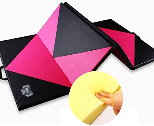 スポーツマット ストレッチマット 練習用マット フリップ 滑り止め ダンスマット 折り畳み可能 家庭 革のジャケット、 6サイズ、 厚手のデザイン GUORRUI (Color : A, Size : 80x200x5CM)