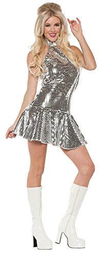UHC Women's 1970s Dance Fever Theme Party Fancy Dress Adult Halloween Costume, S (70s Superheroes Costumes)