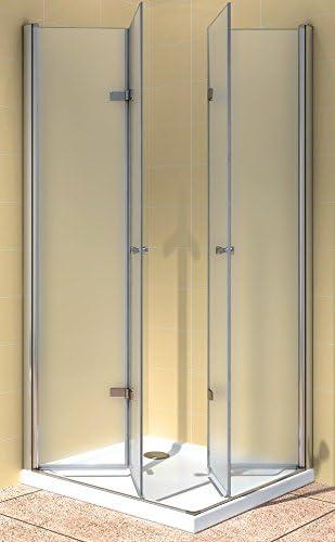 Satinado Puerta mampara de Cristal de Seguridad (ESG) sin Plato ...