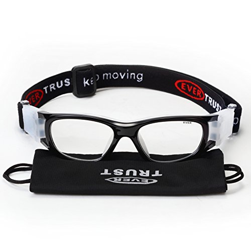 EVERSPORT-Kids-Sports-Goggles-Safety-Protective-Basketball-Glasses-for-Children-with-Adjustable-Strap-for-Basketball-Football-Volleyball-Hockey-Rugby-Black