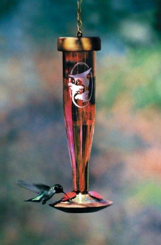 Ruby Hummingbird Lantern (Schrodt Ruby Etched Lantern Hummingbird Bird Feeder)