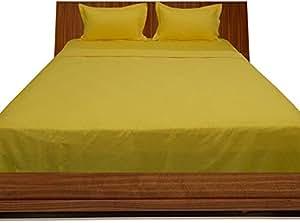 Brightlinen Yellow King (150 X 200 Cm) Sheet Set Solid(pocket Size: 34 Cm) 4pcs