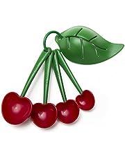 OTOTO Mon Cherry Measuring Spoons & Egg Separator- Measuring Spoon Set for Baking- BPA-Free & Dishwasher Safe Teaspoon Set- Great for Measuring Dry & Liquid Ingredients- 4-Piece Spoon Measurement Set