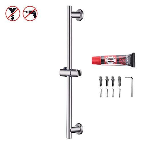 KES Shower Slide Bar for Bathroom with Adjustable Handheld Shower Holder Wall Mount, Brushed SUS 304 Stainless Steel, F204-2 (Wall Shower Kit Installation)