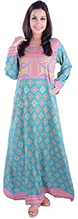 Click on Style Green Party Jalabiya For Women