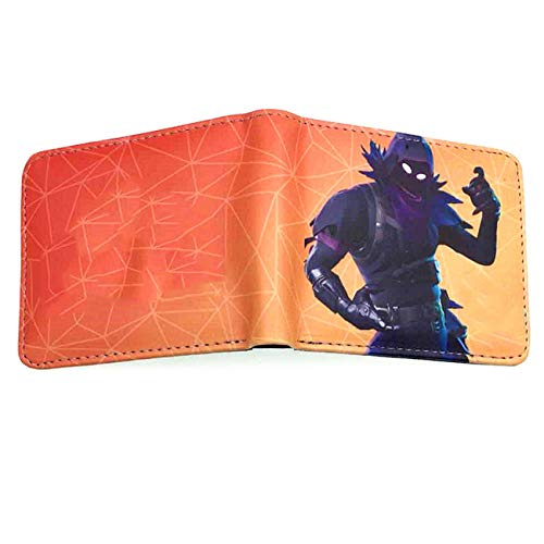 Youth Boys BI-Fold Wallet With Coin Purse For Video Game Short Pocket 6x Boy Bi Fold Wallet