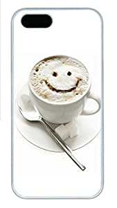 iPhone 5s Case, iPhone 5s Cases - Cup smiley PC Polycarbonate Hard Case Back Cover for iPhone 5s¨CWhite