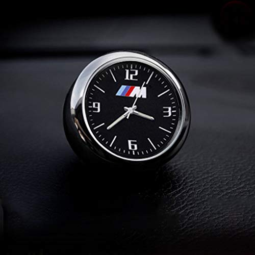 KINBEAR Car Dashboard Clock Watch Interior Accessories High Accuracy Quartz Luminous Dial with Vent Clip (fit BMW-M)