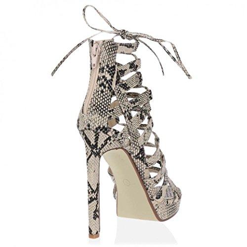 Saute Styles - Sandalias de vestir de Material Sintético para mujer Beige - beige