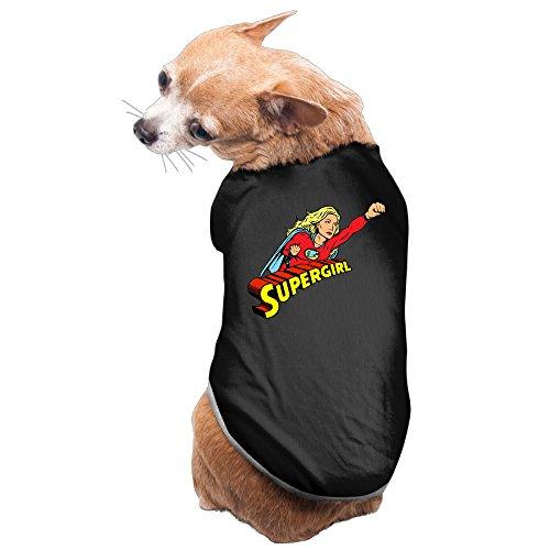 Aip-Yep Awesome Supergirl Dog Costumes Black Size L (Supergirl Dog Costume)