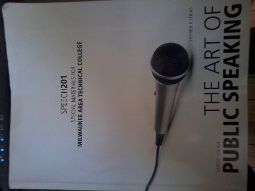 The Art of Public Speaking 11th Edition Speech 201 by Stephen E. Lucas (Paperback).pdf