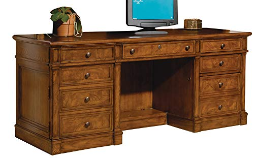 Solid Wood Executive Credenza by Hekman - Hekman Wood Executive Desk