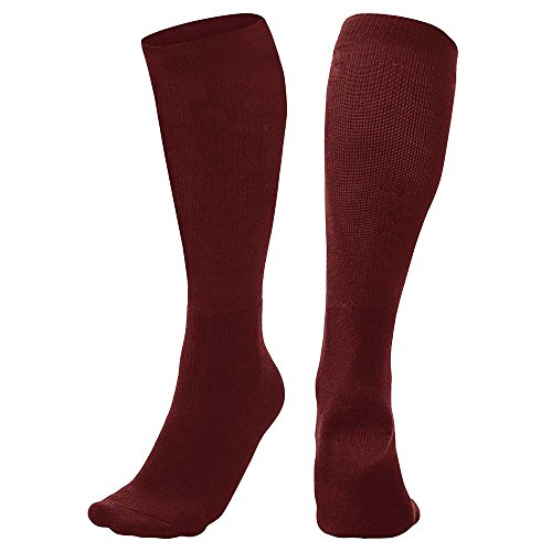 CHAMPRO Sports Multi-Sport Socks, Maroon, Large