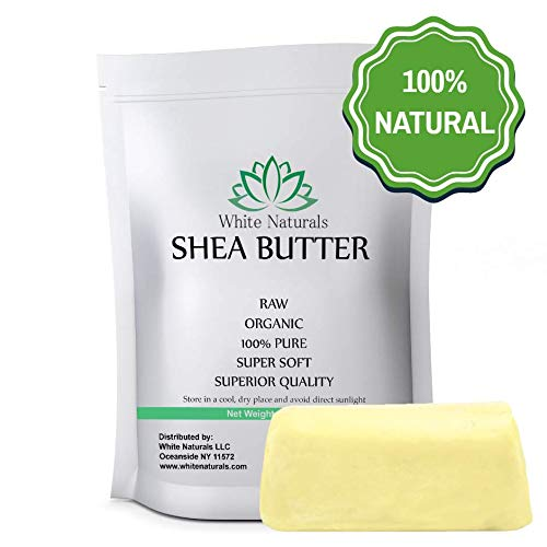 Raw Shea Butter 8 oz By White Naturals - Unrefined, 100% Pur