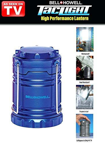 Bell + Howell TacLight Lantern Portable LED Collapsible Camping & Outdoor Torch (Blue)
