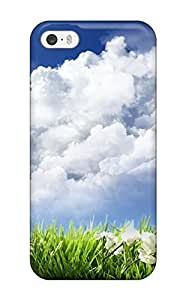 Iphone 5/5s Case Slim [ultra Fit] Sky And Flowers Protective Case Cover