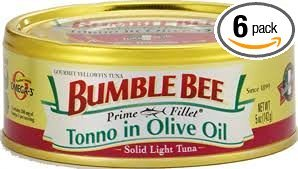 Bumble Bee Prime Fillets Light Tuna Tonno in Olive Oil 5oz Can (Pack of 6) ()