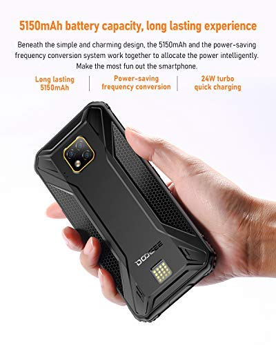 DOOGEE S95 PRO 2020 Rugged Smartphone Unlocked 4G, Helio P90 8GB RAM +128GB ROM IP68 Waterproof Rugged Cell Phones Dual SIM, Android 9.0, 48MP+8MP+8MP+16MP AI Camera, 6.3 inch FHD+, 5150mAh, NFC