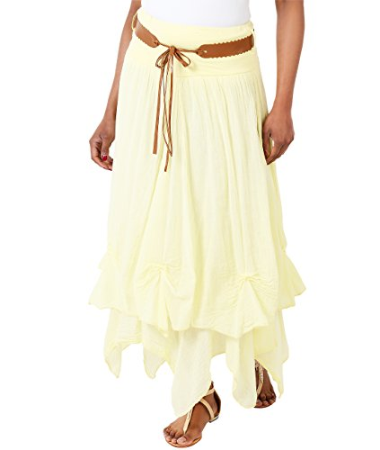 Crinkled Tiered Dress - KRISP Cotton Skirt (FBA_USA7847-LEM-14)