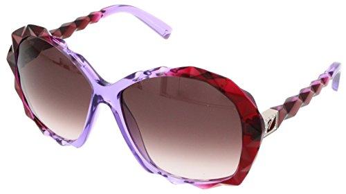 Swarovski Crystal Logo Sunglasses (SWAROVSKI for woman sk0002 (AMAZING) - 77T, Designer Sunglasses Caliber)