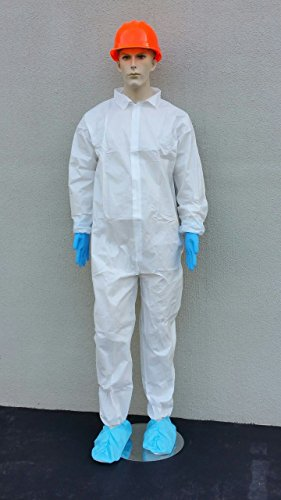 Sunrise Case of 25 Suntech Microporous Disposable Coveralls with Elastic Wrists and Ankles - 5X-Large by SunRise