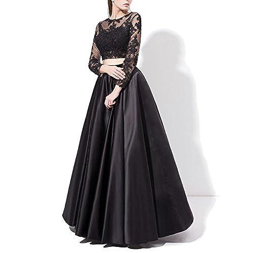 Black Two Piece Prom Dresses: Amazon.com