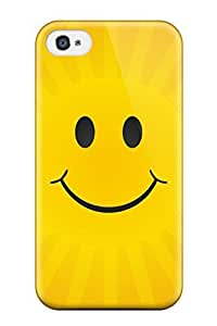 Fashion Tpu Case For Iphone 4/4s- Happy Sun Defender Case Cover