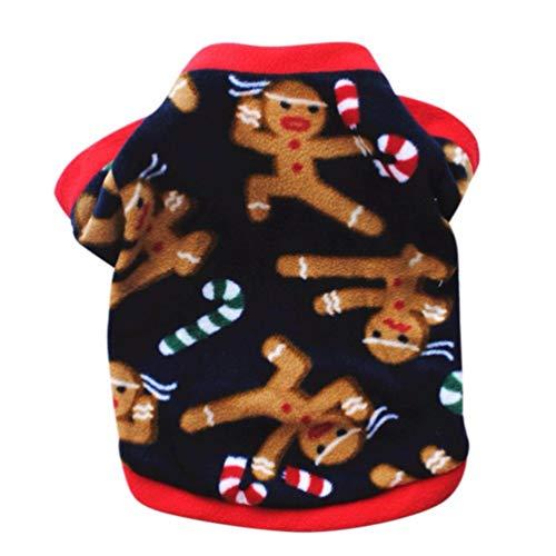 Jim Hugh Pet Dog Coat Christmas Lovely Winter Warm Sweater Cotton Pet Clothing Puppy Jacket Apparel Warm Pullover