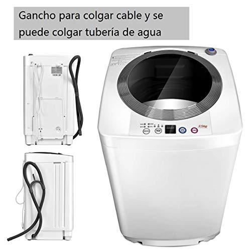 COSTWAY Lavadora Portátil 3,5KG con Pantalla Mini Lavadora para Apartamento Camping