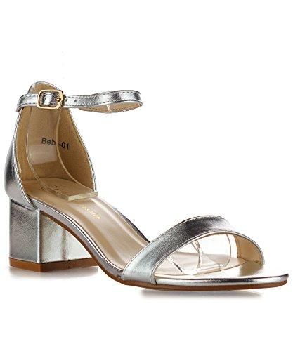 01 Silver Women Sandal - 5