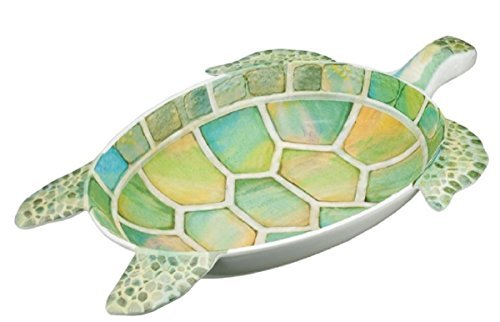 Extra Large Sea Turtle Melamine Serving Bowl or Platter 22 Inches x 14.5 Inches x 3 inches ()