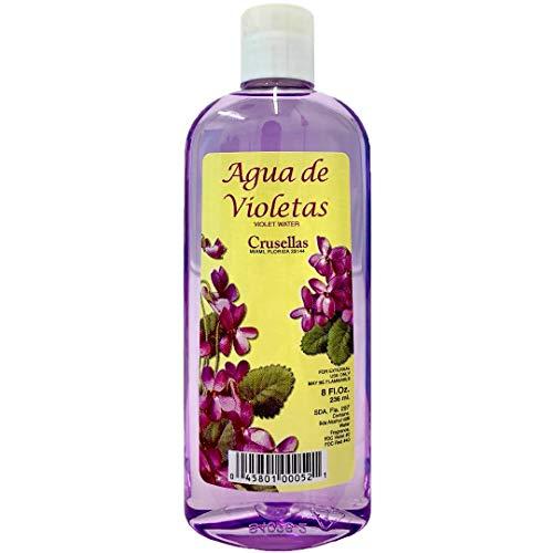 Crusellas Violet Water Cologne 8 Fl Oz (Agua De Violetas) with Pump