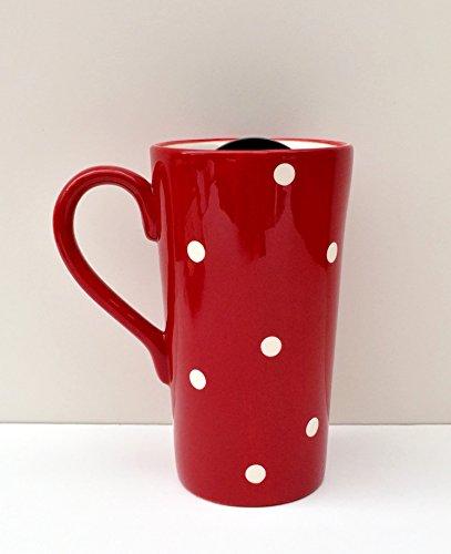 16 oz. Polka Dots Travel Mug Color: Red