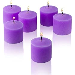 Lavender Scented Candles - Bulk Set of 72 Scented Votive Candles - 10 Hour Burn Time - Made in the USA