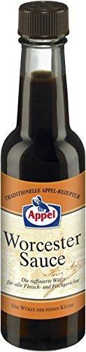 Appel Worcester Sauce, raffinierte Würze für alle Fleisch- und Fischgerichte der feinen Küche, 12er Pack (12 x 140ml Flasche)