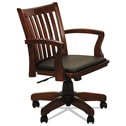 Alera ALEPC4299C Postal Series Slat-Back Wood/Leather Chair, (Executive Series Training Table)
