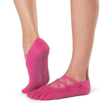 Toesox Grip Pilates Barre Socks-Non Slip Elle Full Toe For ...