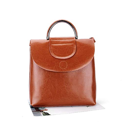 Double Shoulder Leisure Shoulder Oil Baotan Hongge Bag Multifunctional Leather Leather Female Volume Wax Bag Woman Large D Female Bag 0XvYq