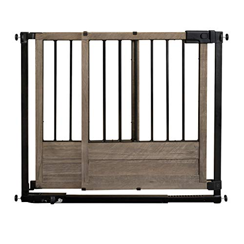 "Summer Rustic Home Safety Gate, 29"" - 42"" Wide & 30"" Tall, for Doorways & Stairways, with Extra Wide Walk Through, 29"" - 42"" Wide"