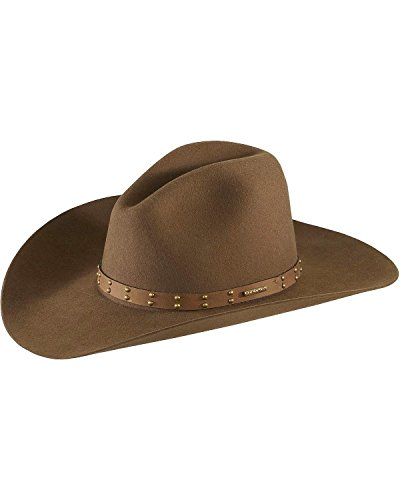 (Stetson Men's 4X Seminole Gus Buffalo Felt Cowboy Hat Mink 7 1/2)