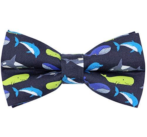 OCIA Cotton Cute Pattern Pre-tied Bow Tie Adjustable Bowties for Mens & Boys Marine Animal ()