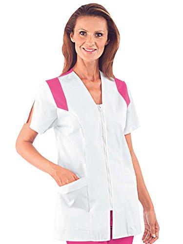 Isacco - Túnica médica Santorini manga corta color blanco fucsia blanco XXL : Amazon.es: Ropa y accesorios