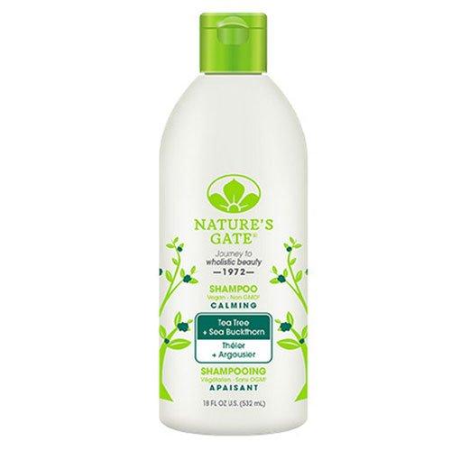 Nature's Gate Tea Tree + Sea Buckthorn Calming Shampoo 18 oz (Pack of 3)