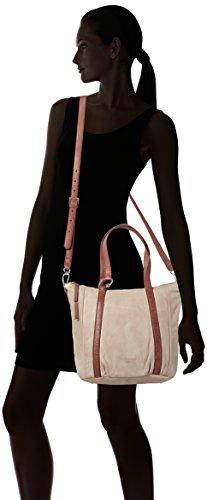 Liebeskind Berlin Ginaw7 City - Shoppers y bolsos de hombro Mujer Beige (Metro Sand)