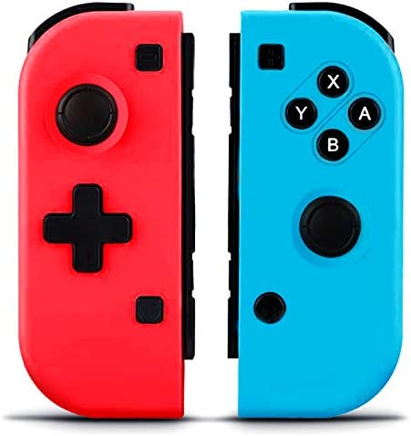 GEEMEE Wireless Controllers for Nintendo Switch, Bluetooth Game Controller Gamepad Joypad Joystick Switch Controller Compatible with Nintendo Switch/Switch Lite – Red and Blue