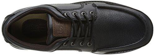 TBS Queler - Zapatos de Cordones de cuero hombre negro - Noir (Noir/Marron)