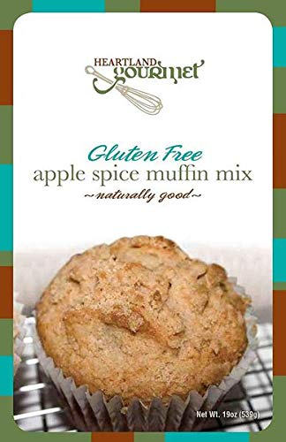 Heartland Gourmet: Gluten Free Apple Spice Muffin Mix - Real Dried Apples in Mix- Certified Gluten Free Ingredients - All Purpose - Safe for Celiac Diet