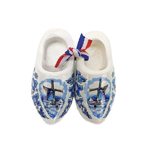 Netherlands Wooden Shoes Magnet Delft - Shoe Dutch Blue