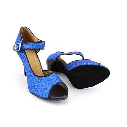 Para Misu Azul Danza Zapatillas Mujer De pqqvn6TwtF